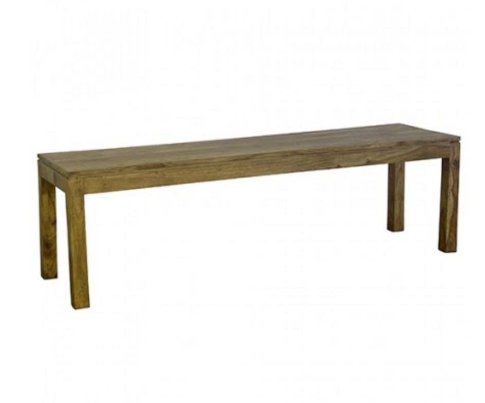 Loft Collection Wooden Bench 130cm - Natural