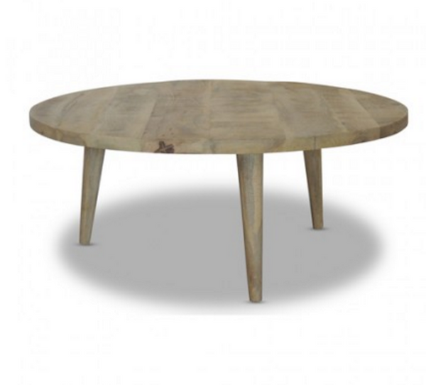 Loft Collection Round Coffee Table - Rustic