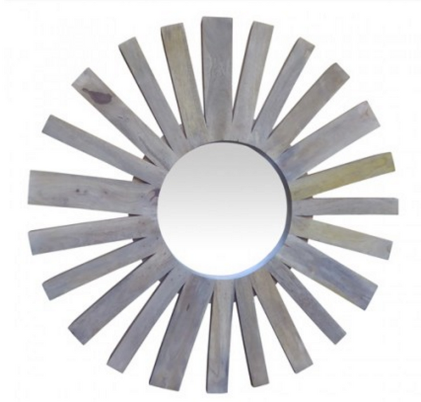 Loft Collection Wooden Sunburst Mirror
