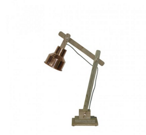 Loft Collection Desk Lamp Timber & Metal