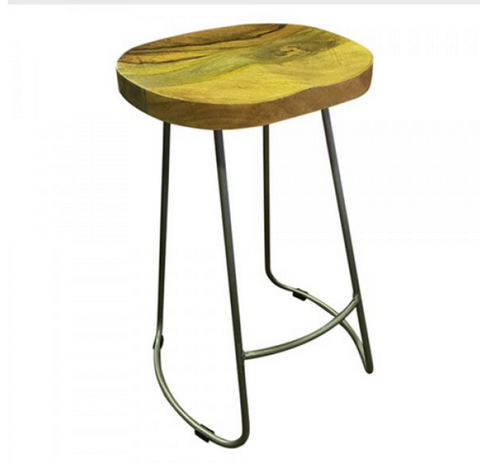 Loft Collection Tractor Stool 65cm - Silver