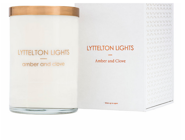 Lyttelton Lights Candle Amber & Clove - L