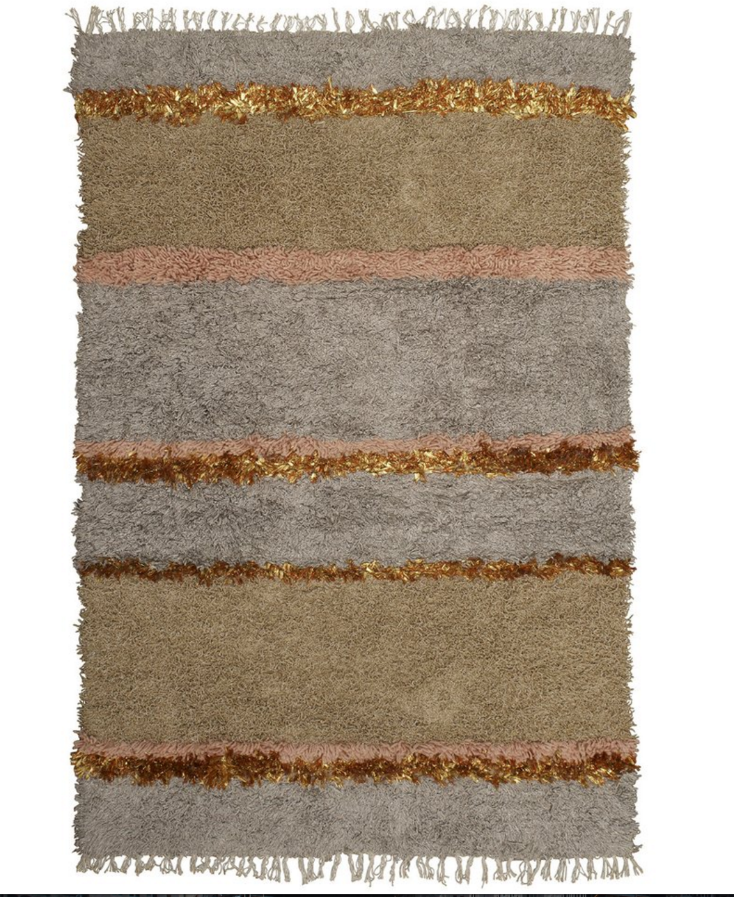 Langdon Striped Shag Rug - 1.5 x 2.2m