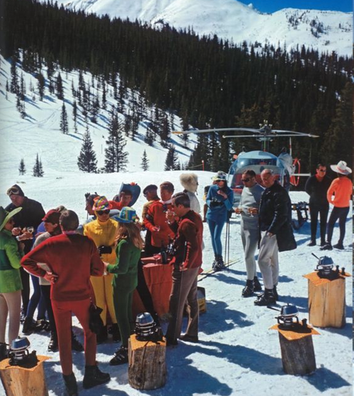 Slim Aarons Snowmass Picnic - Framed