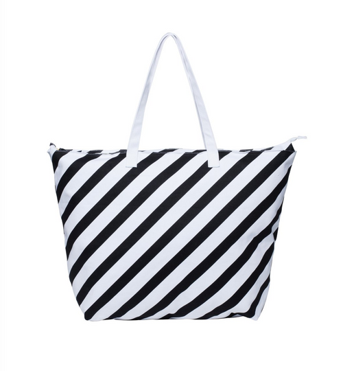 Milk & Sugar Weekend Bag - Diagonal Stripe