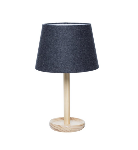 Milk & Sugar Pip Table Lamp - Charcoal