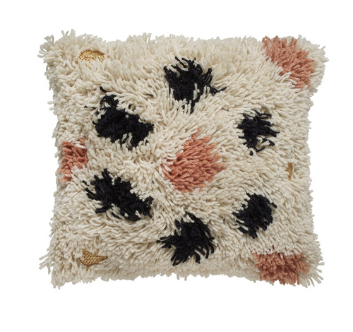 Langdon Leopard Shag Cushion - 50 x 50