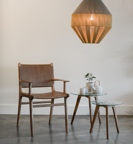 Edt & Co Dining Chair With Arms - Tan
