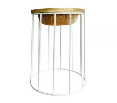 Loft Collection Side Table Round - White