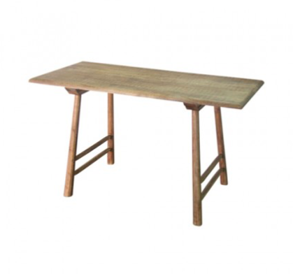 Loft Collection Rustic Timber Console with round leg