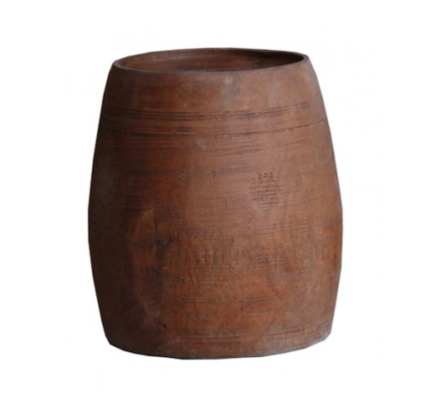 Loft Collection Wooden Pot - Indian Himachal