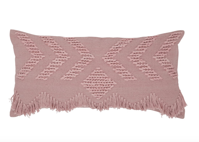 Langdon Fringe Rectangular Cushion Blush/Blush - Cover Only