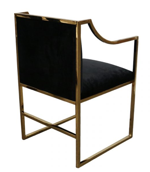 Waterloo Dining Chair - Black/Gold