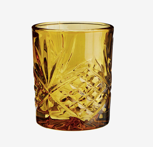Madam Stoltz Drinking Glass - Amber