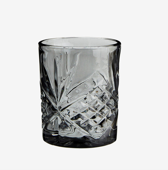 Madam Stoltz Drinking Glass - Grey