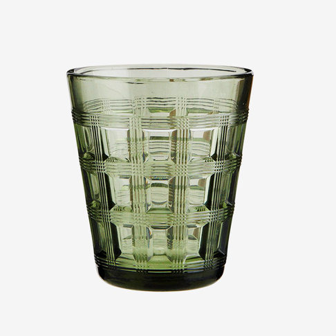 Madam Stoltz Drinking Glass - Green