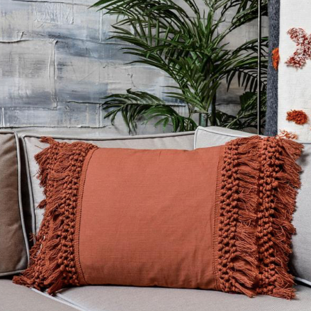 Madam Stoltz Cotton Cushion Cover - Paprika