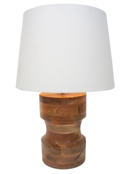 Mohini Wooden Based Table Lamp - White