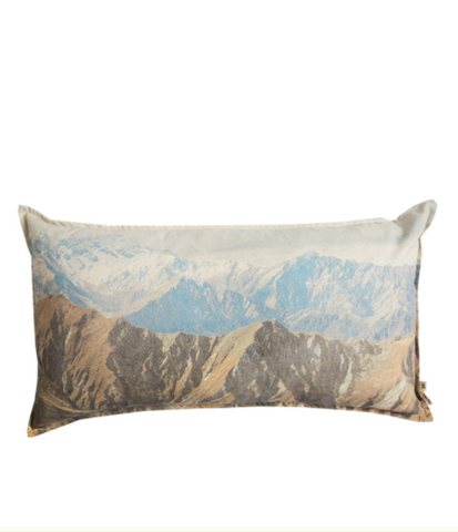 Pony Rider Old River Mountain Print Cushion COVER