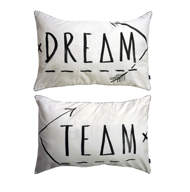 Pillow Slips  Dream Team - Black