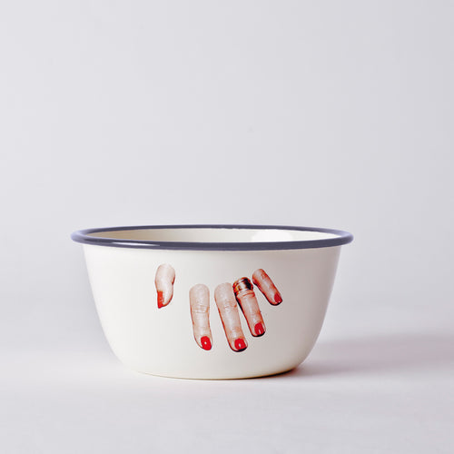 Seletti BOWL METAL ENAMELED - EDGE FINGER