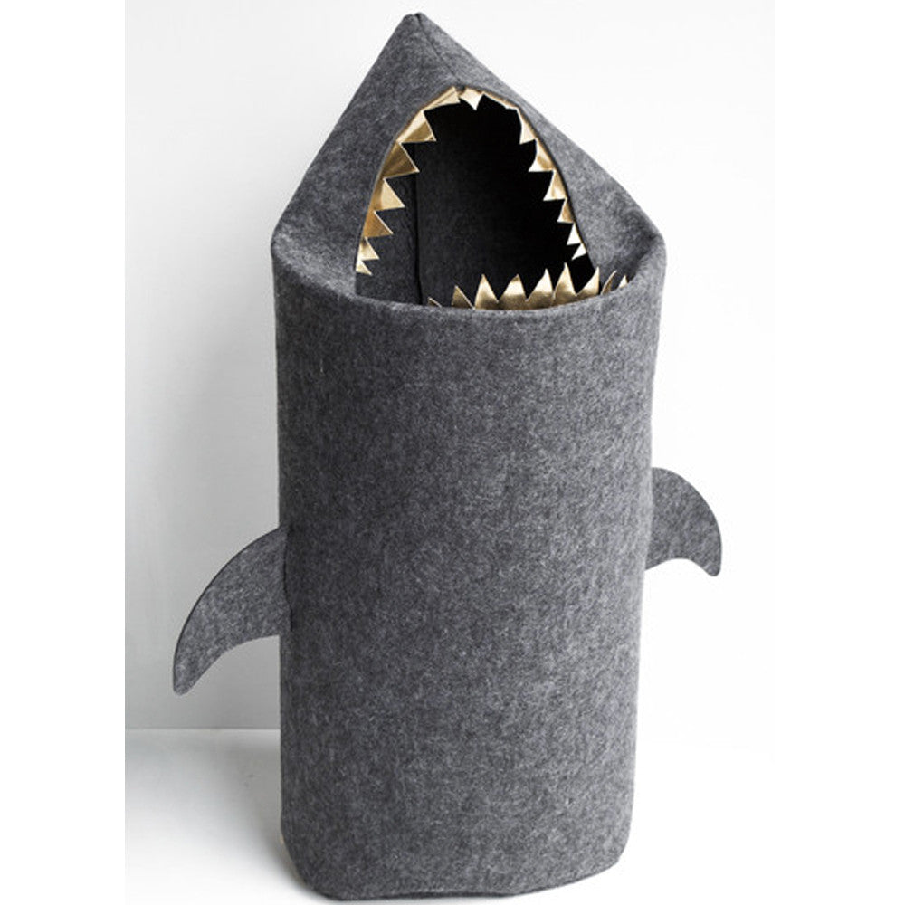 White Moose Felt Laundry Bag Shark - Ash