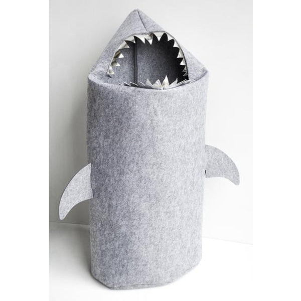 White Moose Felt Laundry Bag Shark - Grey