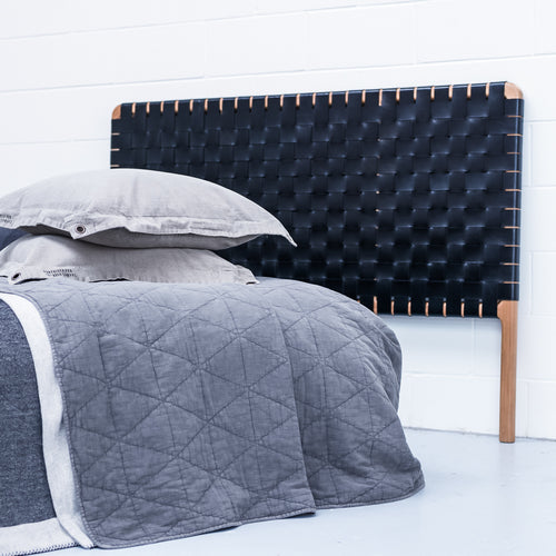 Edt & Co Leather Bed Head - Woven Black