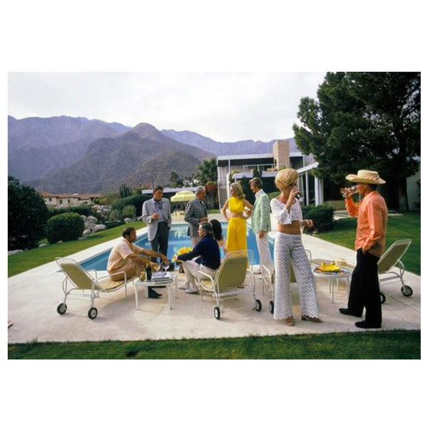 Slim Aarons Desert House Party - Framed