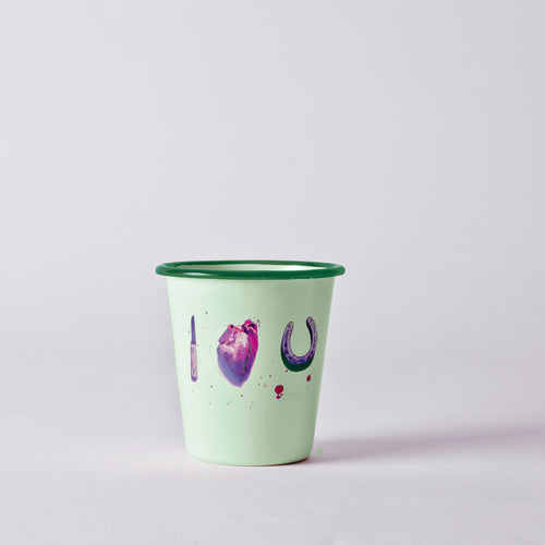 Seletti Enamel Glass - I Love You