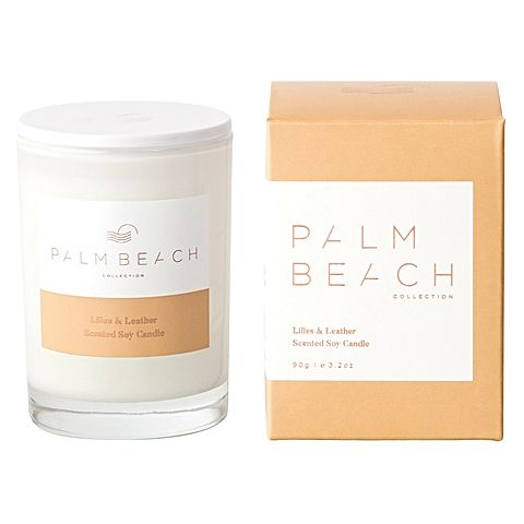 Palm Beach Mini Candle - Lilies & Leather