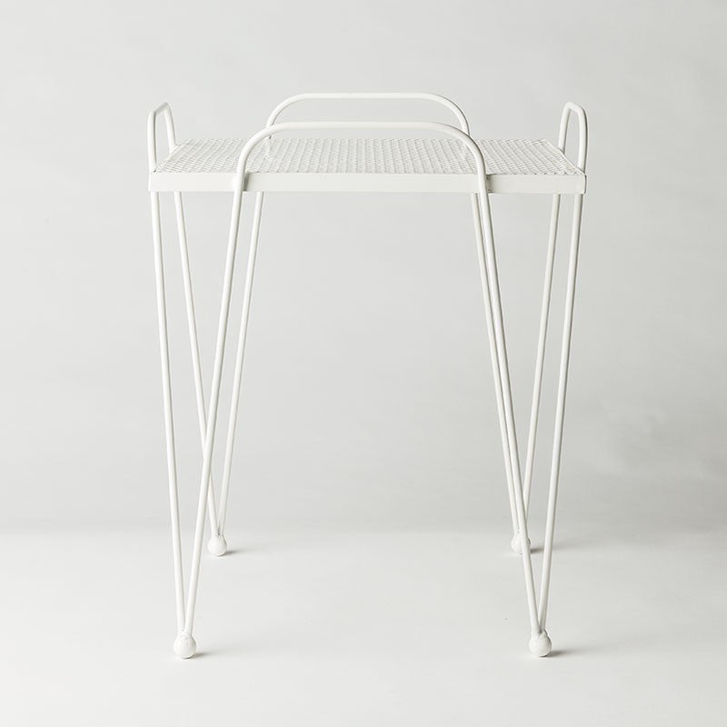MJG - Retro Mesh Table - White