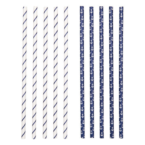 Sunnylife - Paper Straws Anchor - 64 Set