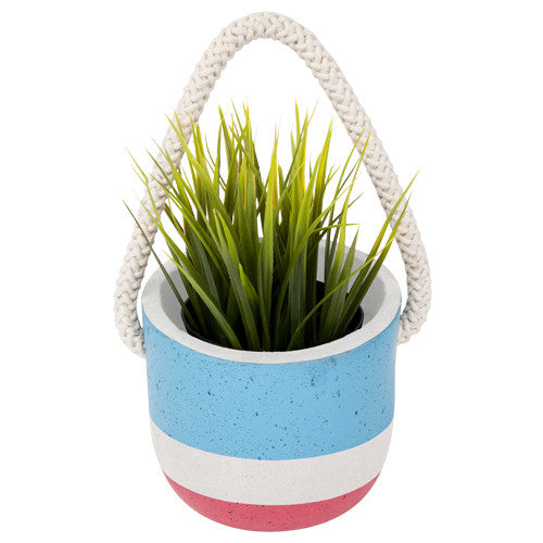 Sunnylife Hanging Pot Plant Small - Blue/Pink