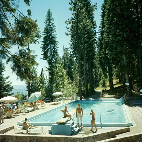 Slim Aarons Pool At Lake Tahoe - Framed