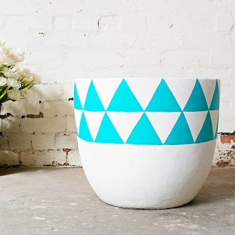 POP & SCOTT - POT TURQUOISE AZTEC SML