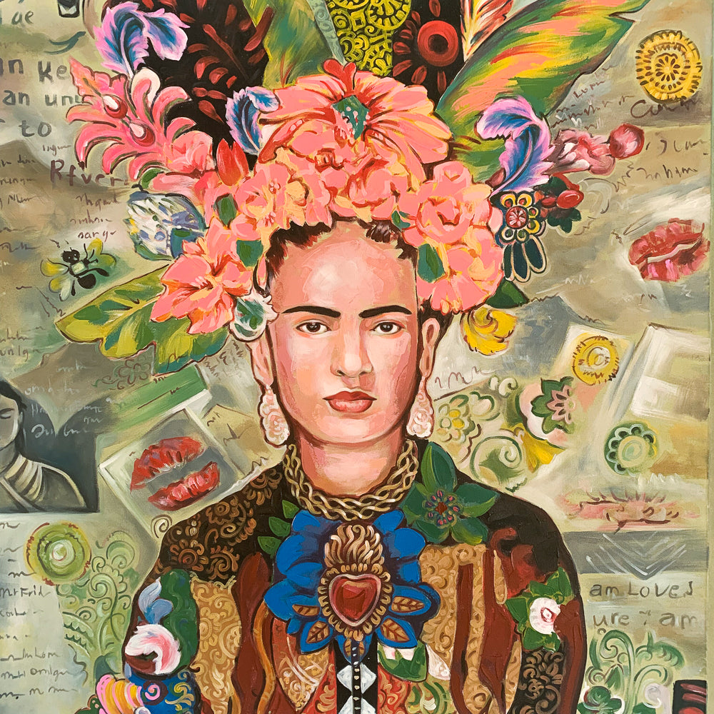 Frida Folklore / Coral - Painting