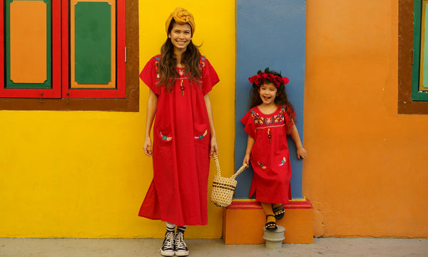 Twinning set, Gabriela, Mexican dress, baebeeboo, resort wear, summer, beach wear, cotton, social conscious