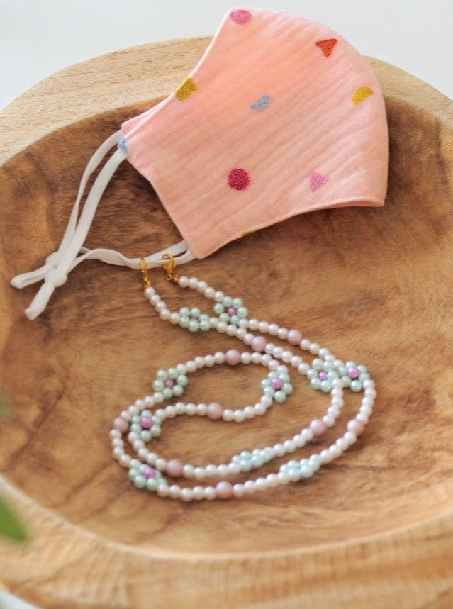 Pearl Daisy Mask Chain