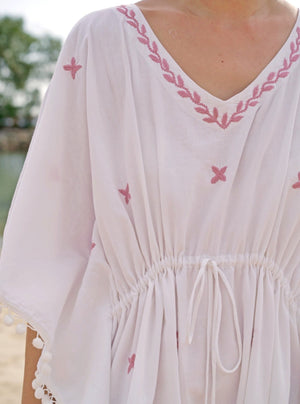 Kaftans, resort wear, kids resort wear, kids, children's wear, children's apparel, kids fashion, Baebeeboo, Isle of Bae, beach wear, beach, children, fashion, cactus, ice cream, eye, shirt, boys, girls, 1-7 years old, holiday, lounge wear, comfortable, social conscious, bohemian, cotton, embroidery, adult kaftan, twinning, twinning kaftans, mother and child
