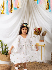 Kaftans, resort wear, kids resort wear, kids, children's wear, children's apparel, kids fashion, Baebeeboo, Isle of Bae, beach wear, beach, children, fashion, tunic, kaftan, cactus, ice cream, eye, shirt, boys, girls, 1-7 years old, holiday, lounge wear, comfortable, social conscious, bohemian, cotton, embroidery,