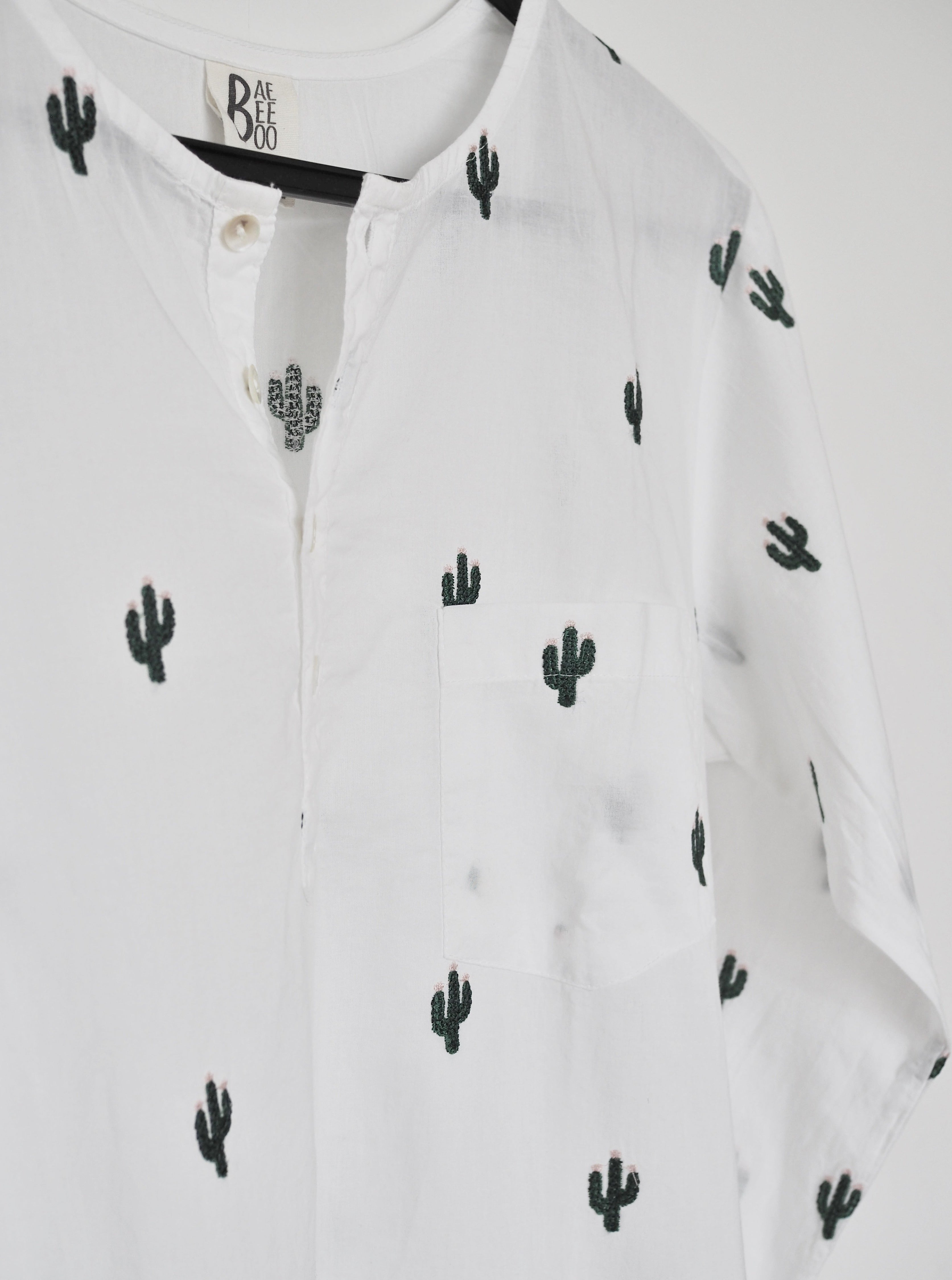 Twinning, mother and daughter, cactus, cactus shirts, cotton, made in india, 100% cotton, social conscious, baebeeboo, father and son