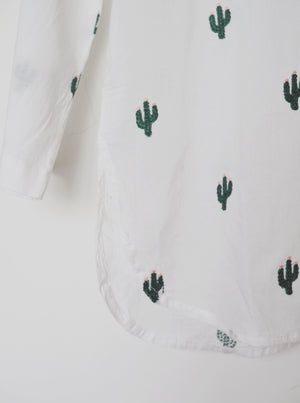 Twinning, mother and daughter, cactus, cactus shirts, cotton, made in india, 100% cotton, social conscious, baebeeboo