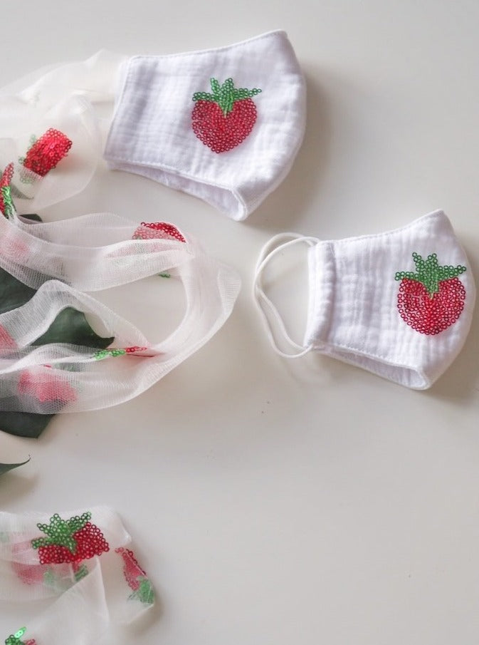 Shiny Strawberry White Face Mask: Pre-Order Ended