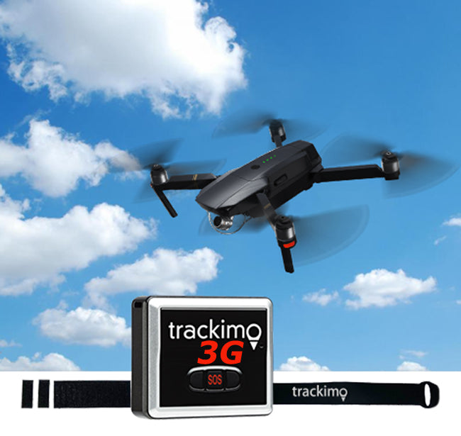 Trackimo GPS Tracker Universal drone attachment kit - Only 3 grams