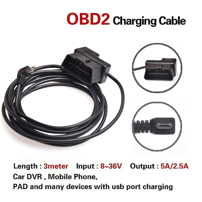 Vehicle/Marine, Cable Kit,  OBD to Micro USB Cable for Trackimo GPS Trackers