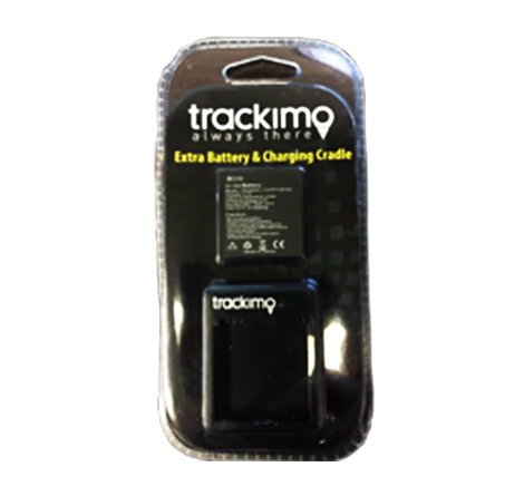 Trackimo 600mAh Li-Ion Battery & free Charging Cradle. Be ready at all Times. - Trackimo.com.au