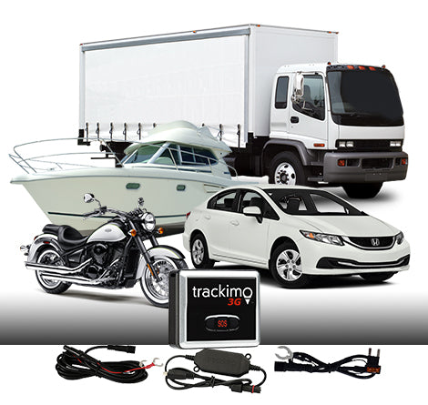 TrackimoFleet GPS+3G SIM card+Wi-Fi+Bluetooth, Tracking Device+Vehicle/Marine wire Kit.