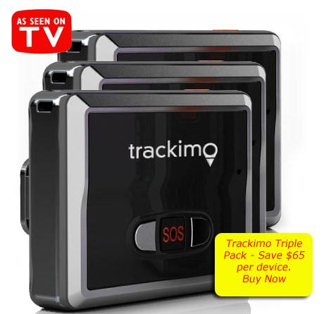 3 x Trackimo - TRKM002, Global Tracking Device, GPS+GSM. SOS, Speed, History. 12 Months FREE Global Services