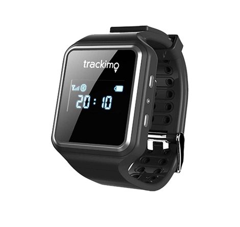 Trackimo Global GPS Smart Watch - GPS/Built in SIM card/Wi-Fi/Bluetooth - works with all 3G, 4G and 5G devices.